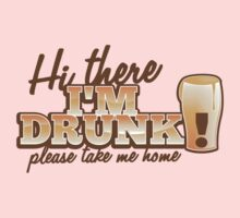 Hi there! I'm DRUNK Please take me home! with beer glass One Piece - Long Sleeve