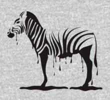 Zebra melting One Piece - Long Sleeve