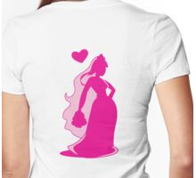 Beautiful pink Bride Womens Fitted T-Shirt