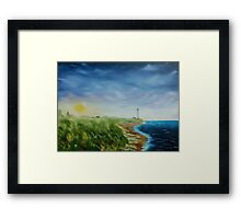 September Slips Through The Sky Framed Print