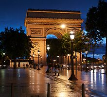 wet slick - Champs Elysees Paris by annabella67