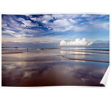 Cloud reflections - Khuek Khak beach Poster