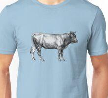 Vintage Old Cow Illustration Unisex T-Shirt