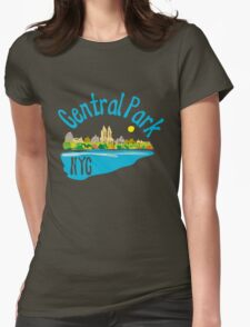 Central Park NYC Womens Fitted T-Shirt