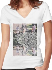 a plague Women's Fitted V-Neck T-Shirt