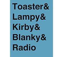Toaster-vetica Photographic Print
