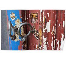 Bent padlock hoops Poster