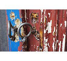 Bent padlock hoops Photographic Print