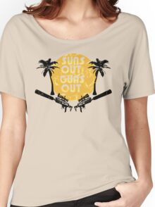 Suns Out Guns Out - H1Z1 - Cracked Women's Relaxed Fit T-Shirt