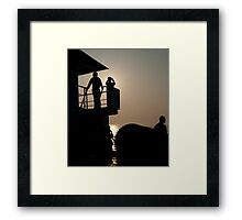 Look, I can see the sea! Framed Print