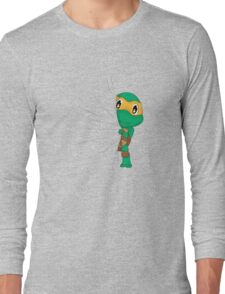 HIDDEN TMNT michelangelo ! Long Sleeve T-Shirt
