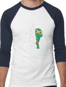 HIDDEN TMNT michelangelo ! Men's Baseball ¾ T-Shirt