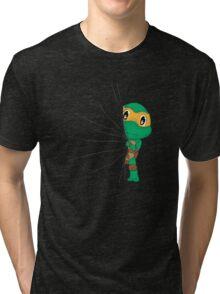 HIDDEN TMNT michelangelo ! Tri-blend T-Shirt