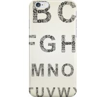 Alphabet business iPhone Case/Skin