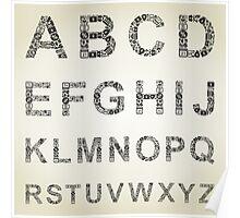 Alphabet business Poster