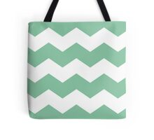 Bright Green Chevron Print Tote Bag