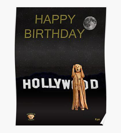 The Scream World Tour Hollywood Happy Birthday Poster