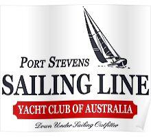 Sailing line Poster