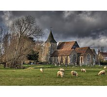 Sheep may safely graze Photographic Print
