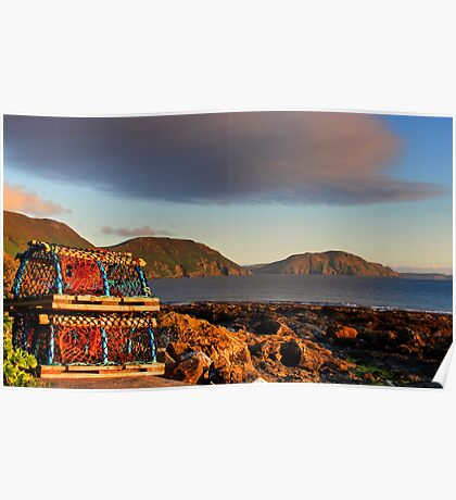 Lobster Pots at Niarbyl Poster