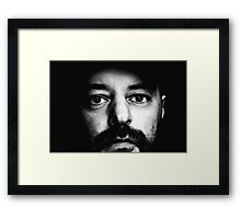 Dark, Self Portrait Framed Print