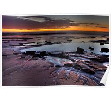 Bellambi Beach Sunrise - HDR Poster
