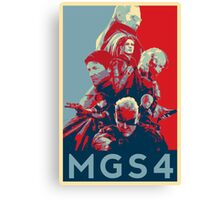 Metal Gear Solid 4 poster Canvas Print
