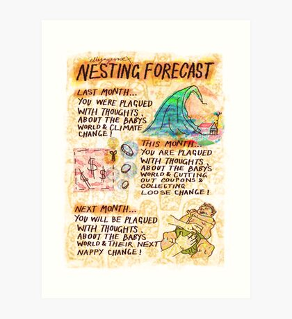 Pregnancy: Nesting Forecast Art Print