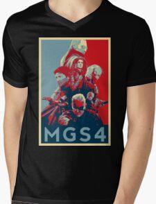 Metal Gear Solid 4 poster Mens V-Neck T-Shirt