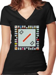 8-BIT Monopoly Women's Fitted V-Neck T-Shirt