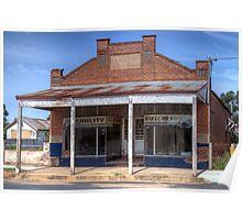 The old Butcher's Shop, Boorowa, NSW, Australia Poster