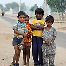 Indian children at Nawalgarh by Christopher Cullen