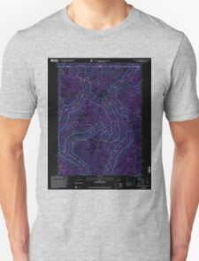 USGS Topo Map California High Plateau Mountain 100741 1997 24000 Inverted T-Shirt