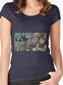 Foggy Mind - Abstract Fractal Women's Fitted Scoop T-Shirt