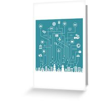 Business a city Greeting Card