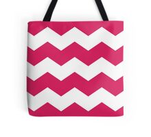 Deep Pink Chevron Print Tote Bag