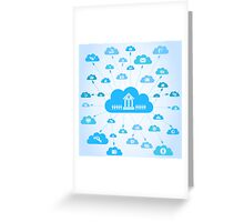 Business a cloud Greeting Card