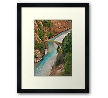 The stone arched bridge of Petroto Framed Print