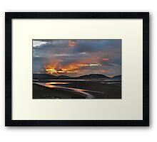 Sunset Portmeirion Estuary Framed Print