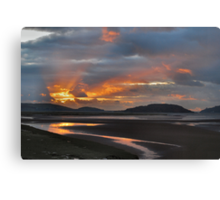Sunset Portmeirion Estuary Canvas Print