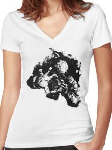 Leroy (Messy Ink Sketch) Women's Fitted V-Neck T-Shirt