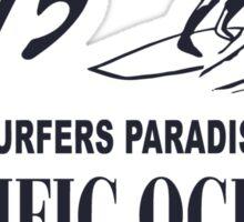 Surfers Paradies - Pacific Ocean Surfing Sticker