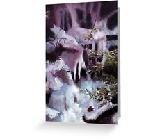 New Hampshire Flume  in oil Greeting Card