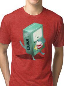 Oh BMO, how'd you get so pregnant? Tri-blend T-Shirt
