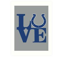 LOVE - Colts Art Print