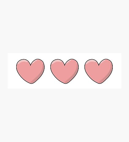 Love and Hearts Photographic Print