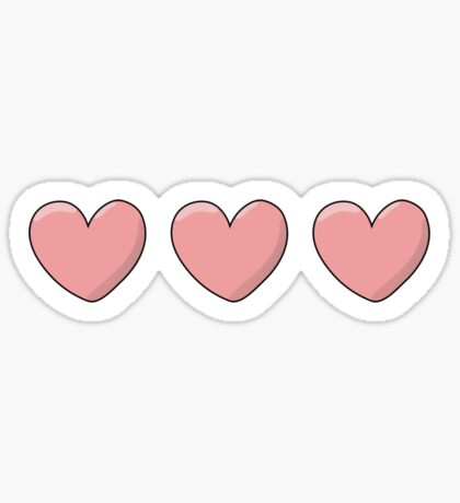 Love and Hearts Sticker