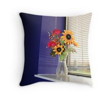 Flower Vase Throw Pillow