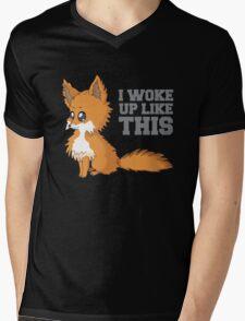 Fox Woke Up Like This Mens V-Neck T-Shirt