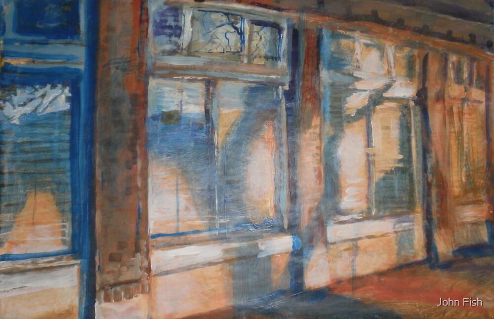 Sidewalk Shadows by John Fish